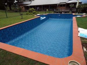 Empty Pool with New Liner