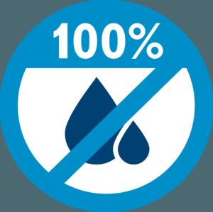 No Pool Leaks 100% Blue Clip art Image