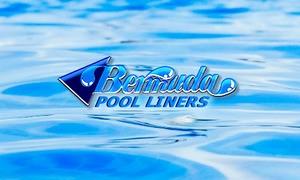 Bermuda Pool Liners Logo on Water Background